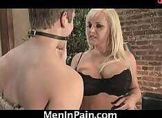 Hot blonde cougar orders a boy for delivery!