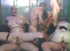 Various beautiful chicks are taking part in incredible hot sex orgy