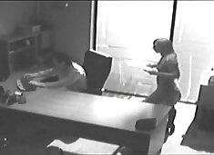 Secretary fucking her co-worker Hidden Camera