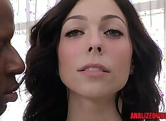 Busty anal babe assfucked by black cock