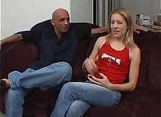 EasyDater - Blond on a blind date get an unexpected creampie and freaks out