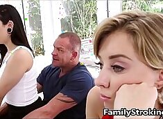 Teen Step Daughters Fight For Daddy's Cock - FamilyStroking.com