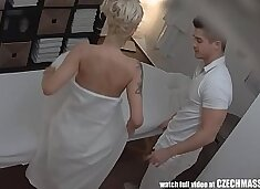 Beautiful Big Tits Blonde on Czech Massage
