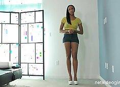 Hot Black Girl Starts Her Modeling Career With The Wrong Calendar