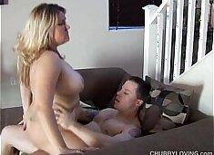 Beautiful big tits blonde BBW Amy is a hot fuck