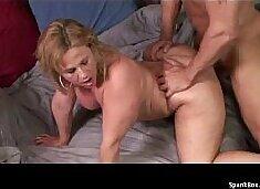 BBW mature takes a hard pounding