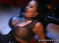 Slut with big boobs gets anal fucking